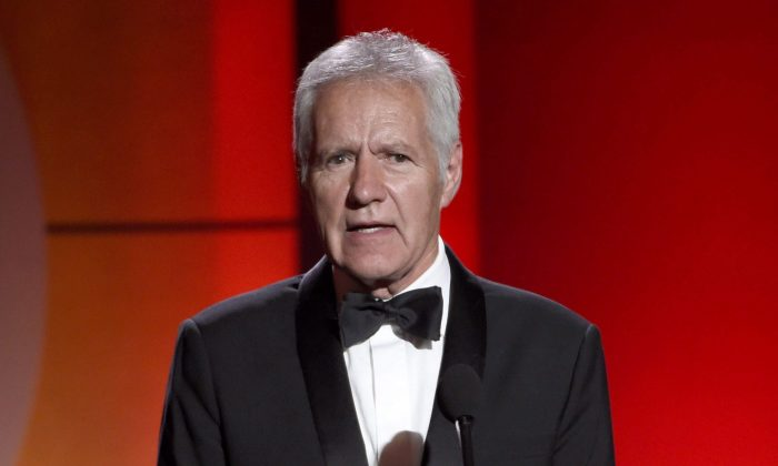 Alex Trebek speaks at the 44th annual Daytime Emmy Awards at the Pasadena Civic Center in Pasadena, Calif., ons April 30, 2017. Trebek has been diagnosed with stage 4 pancreatic cancer. (The Canadian Press/AP/Chris Pizzello/Invision)