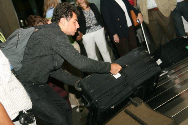 Abdo getting his bag
