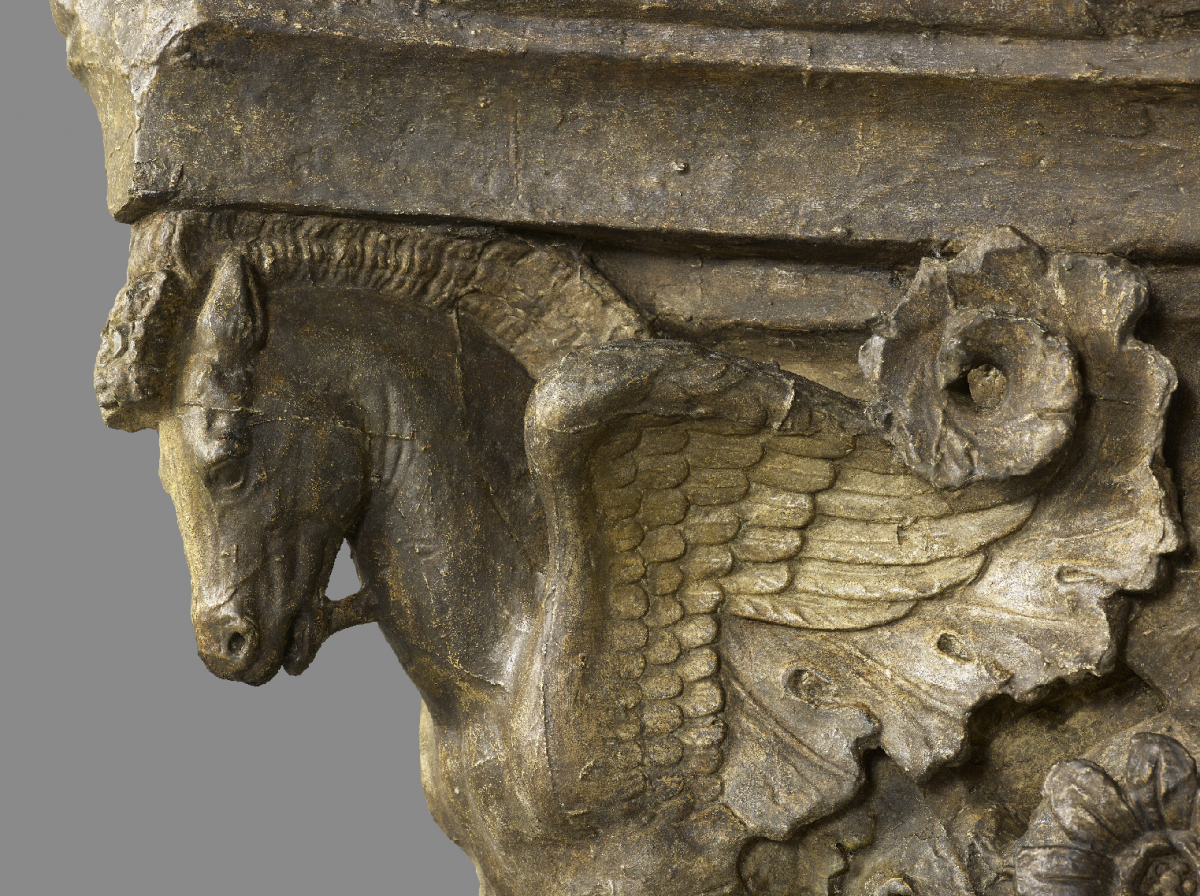 Architectural plaster cast Pegasus detail