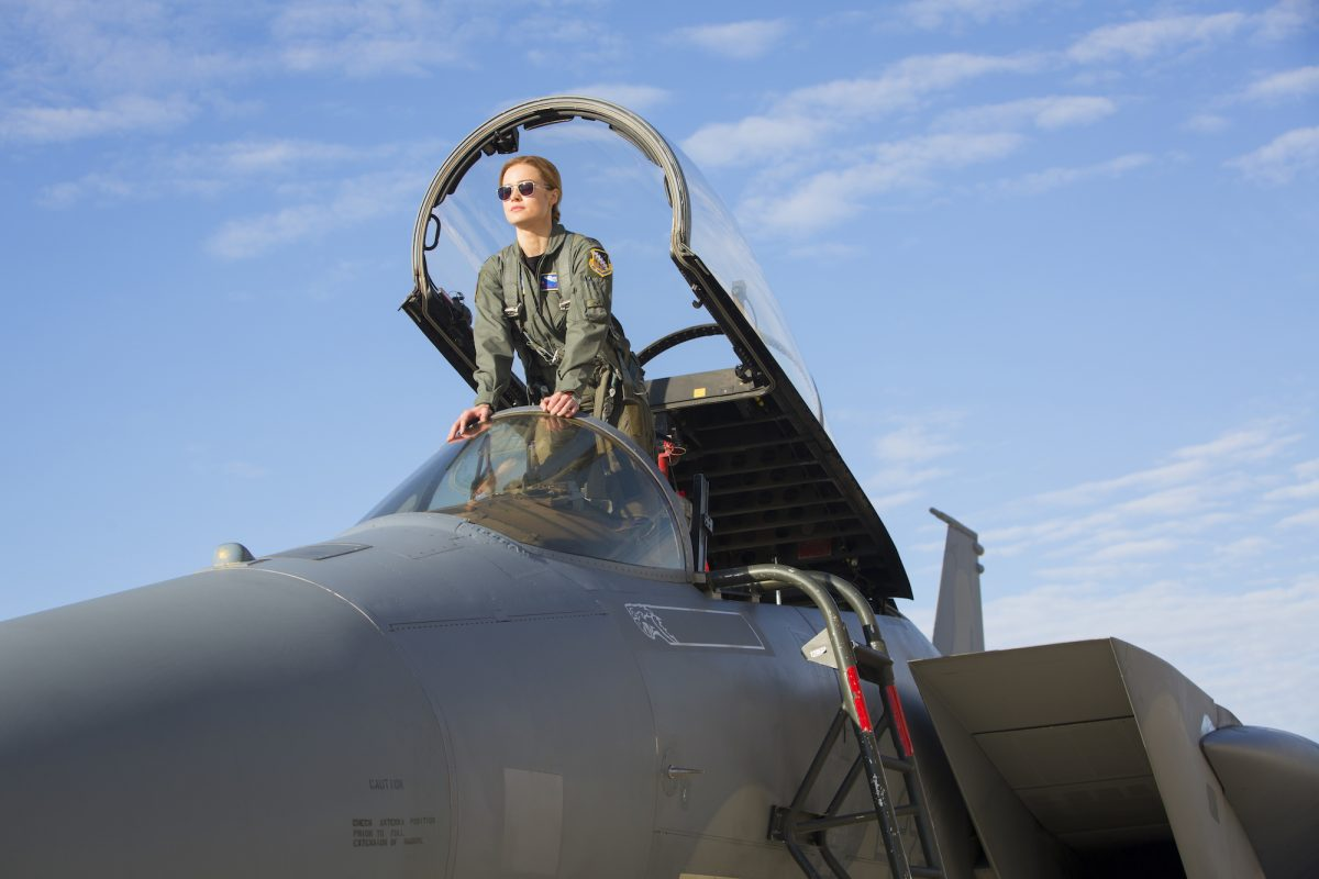 woman in jet