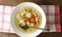Great Aunt Lois's Chicken Matzoh Ball Soup
