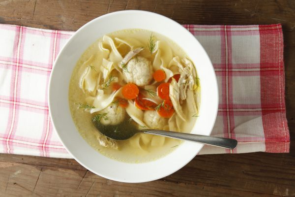 Chicken matzoh ball soup