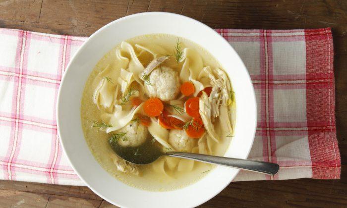 Chicken matzoh ball soup. (Todd Coleman)