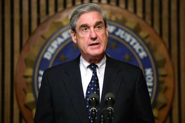 FBI Director Robert Mueller Speaks at a press conference