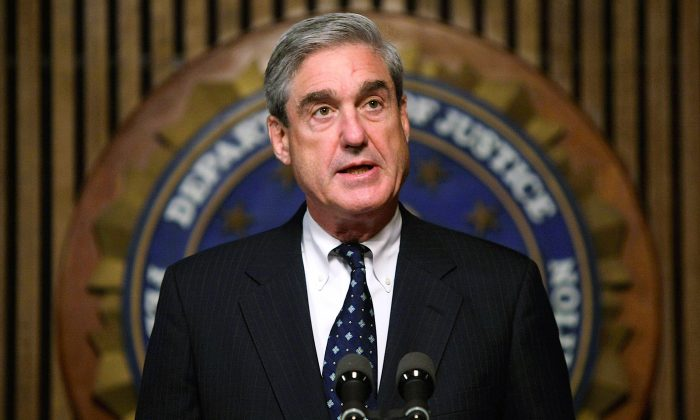 Then-FBI Director Robert Mueller in Washington, on June 25, 2008. Special Counsel Mueller is reportedly close to finishing his investigation. (Alex Wong/Getty Images)