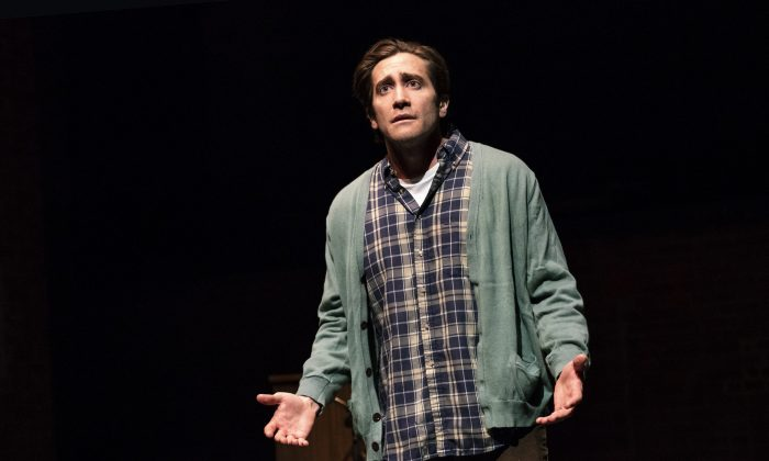 "Jake Gyllenhaal in the one-act play ""A Life."" (Joan Marcus)"