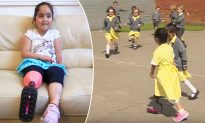 Little Girl Shows Off Her New Pink Prosthetic Leg, Gets Priceless Response from Friends