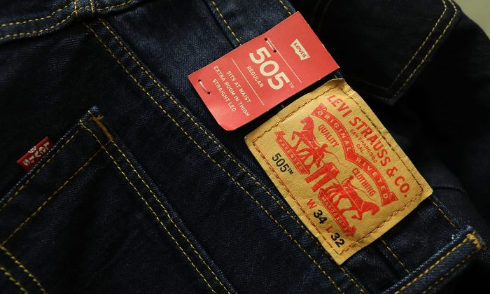Iconic American Levi's clothes brands are seen in Miami, Fla., on May 31, 2018. (Joe Raedle/Getty Images)