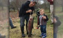 3-Year-Old Little Angler Catches Huge Rainbow Trout with Spider-Man Fishing Rod
