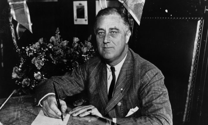 President Franklin Delano Roosevelt (1882 - 1945) is shown in 1936. In 1937 he proposed a scheme for packing the Supreme Court.  (Keystone Features/Getty Images)