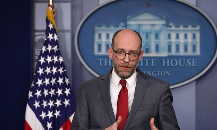 Acting Director of Office of Management and Budget Russell Vought speaks during a news briefing at the James Brady Press Briefing Room of the White House March 11, 2019 in Washington. (Alex Wong/Getty Images)