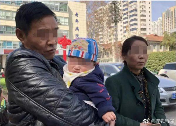 Duan Yanmin, wife, grandson