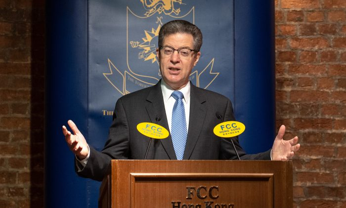 Sam Brownback, U.S. ambassador for religious freedom, delivered a speech at Hong Kong Foreign Correspondents' Club on March 8, 2019. (Li Yi/The Epoch Times)