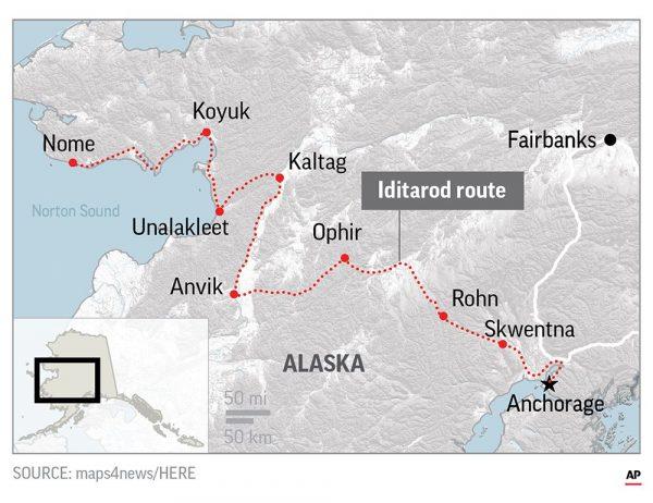 Alaska Dog Sled Race 1