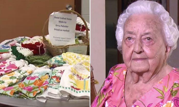 100-Year-Old 'Queen of Crocheting' Sells Her Craft to Donate Thousands to Local Preschool
