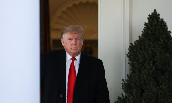 President Donald Trump makes an announcement in the White House Rose Garden in Washington on Jan. 25, 2019.  (Charlotte Cuthbertson/The Epoch Times)