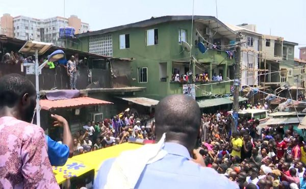 taken from video rescue workers and emergency teams work at the scene of a building collapse