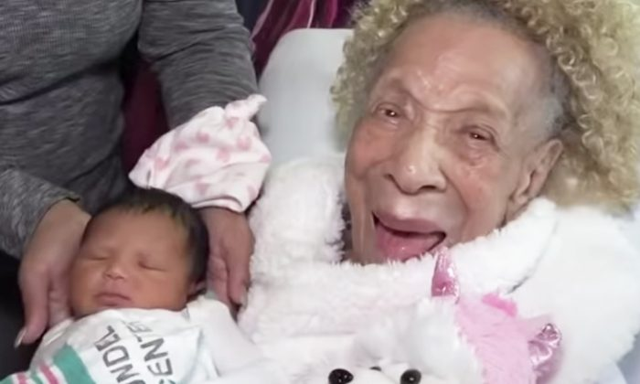 105-Year-Old Meets Great-Great-Granddaughter for the First Time As 5 Generations Gather