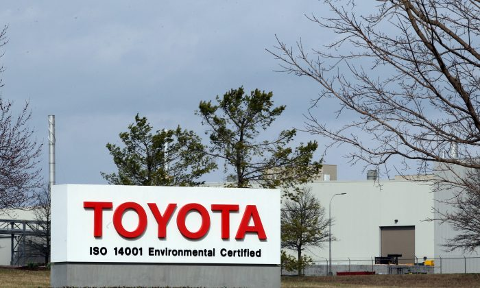 Views of the Toyota Motor Manufacturing plant in Georgetown, Kentucky, on March 14, 2019. (John Sommers II/Getty Images)