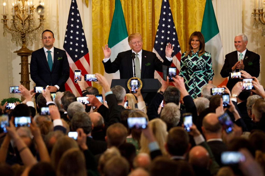 President Donald Trump Meets With Taoiseach Leo Varadkar of Ireland At The White House