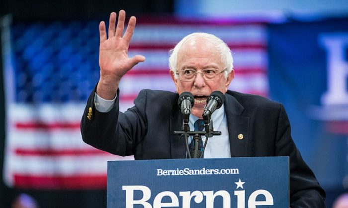 Democratic presidential candidate Sen. Bernie Sanders at the Royal family Life Center in North Charleston, S.C., on Mar. 14, 2019.  (Sean Rayford/Getty Images)