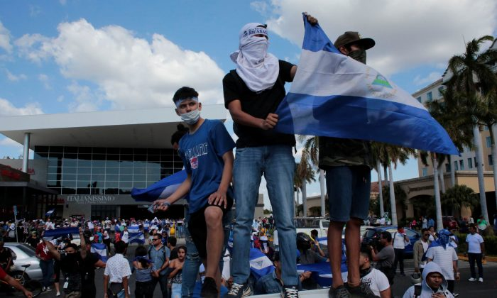 Demonstrators participate in a protest against the government of Nicaragua's President Daniel Ortega in Managua, Nicaragua, on March 16, 2019. (Reuters/Oswaldo Rivas)