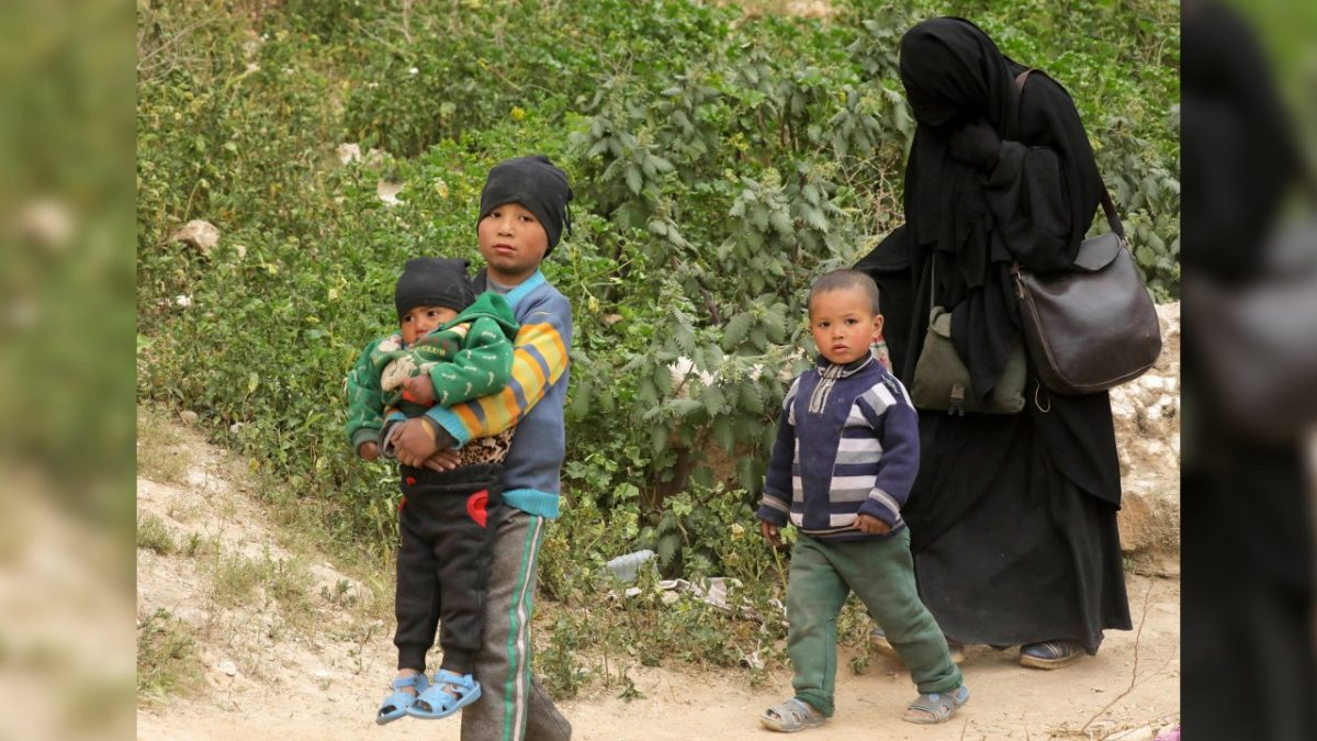 Woman and children of ISIS terrorists