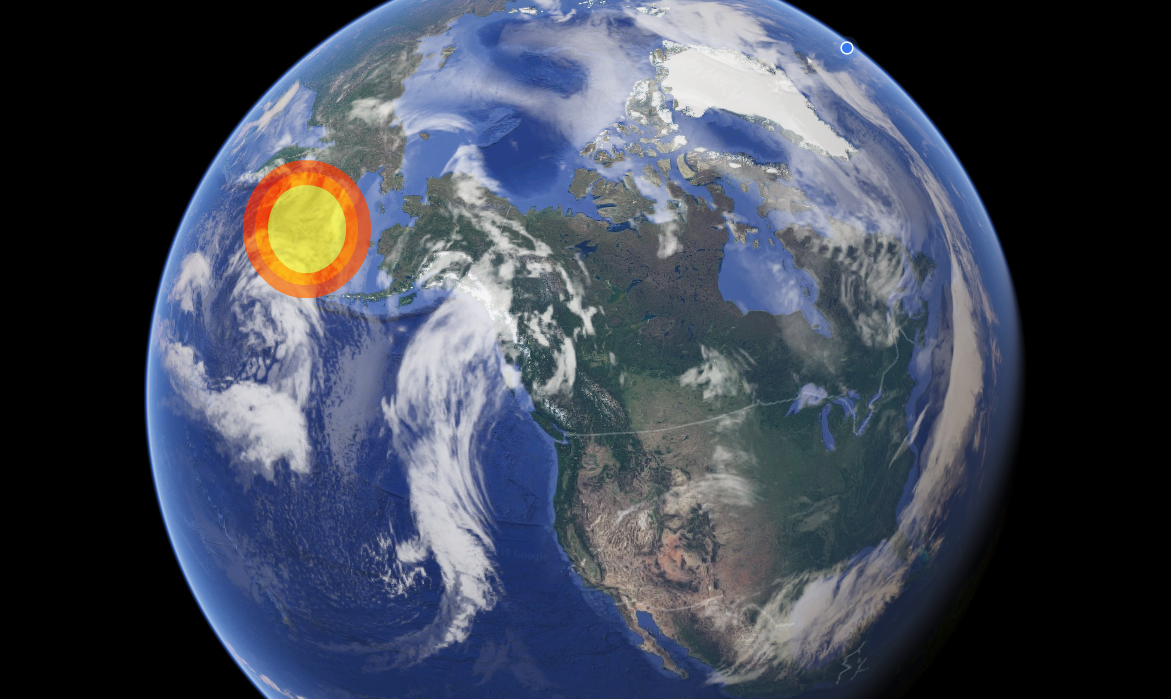 Fireball Bering sea