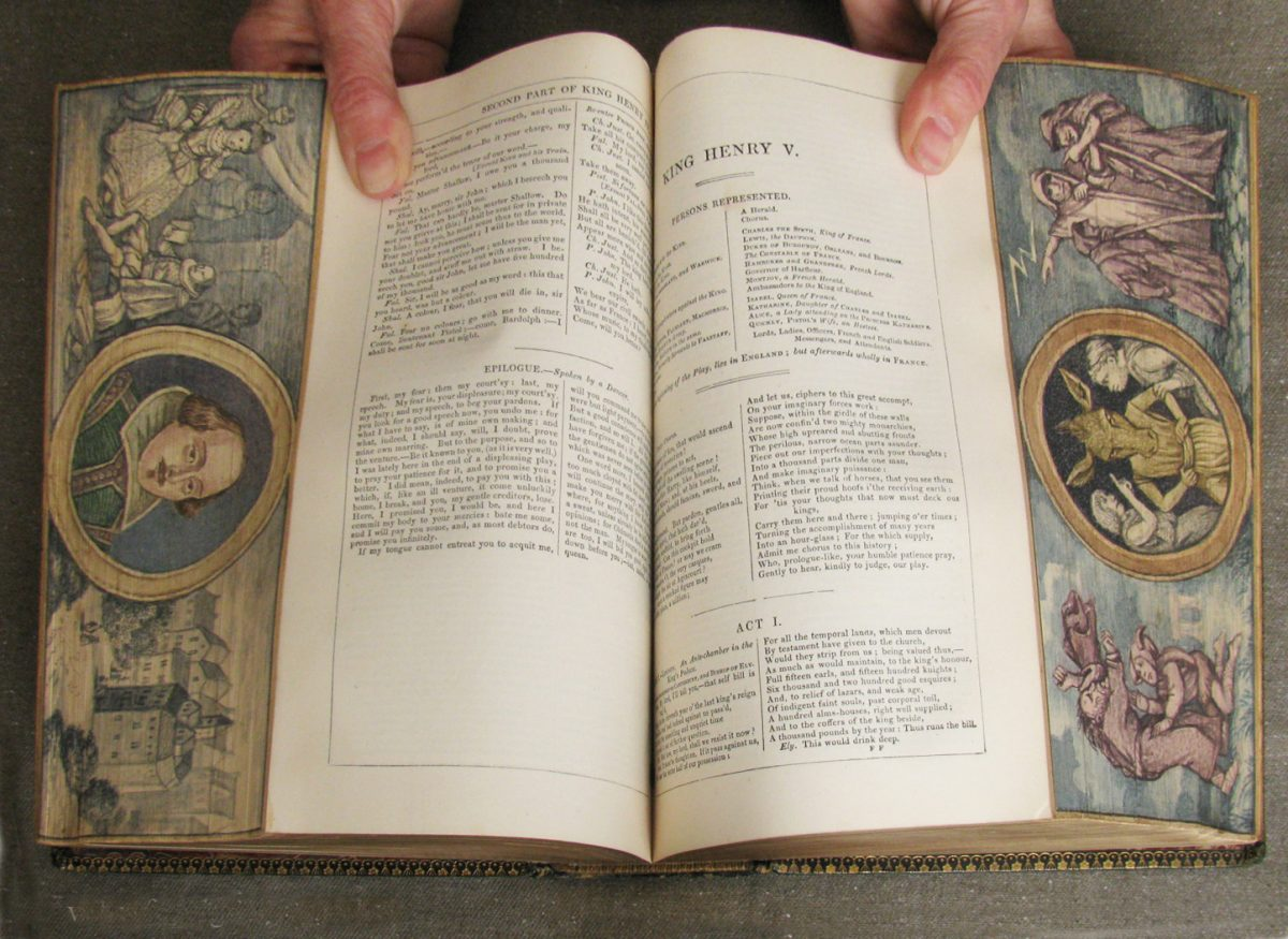 Fore-edge painting Shakespeare