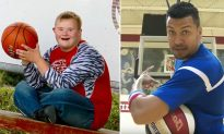 Teen with Down Syndrome Nails Backwards Trick Shot, Gets Invitation from Harlem Globetrotter