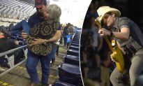 Fireman Attending Brad Paisley's Concert Carries Elderly Lady with Cancer Upstairs