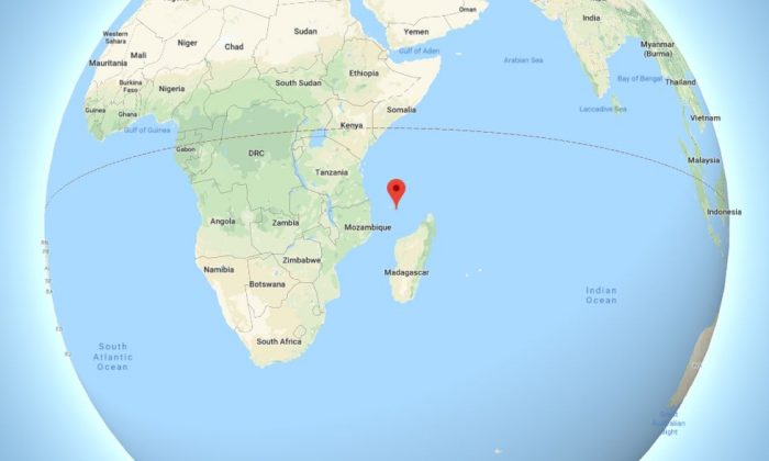 Researchers say they're puzzled by rocks found on a small island between Madagascar and the east coast of Africa. (Google Maps)
