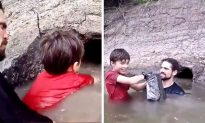 Father and Son Go Fishing by Hand, but What They Pull out of the Cave Is Massive
