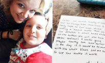 Mom of Autistic Son Bursts into Tears After Reading Note on Back of Birthday Invitation