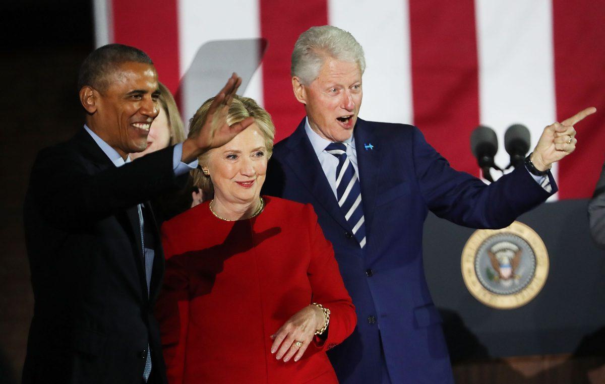 Hillary Clinton-Kampagnen in den USA einen Tag vor der Präsidentschaftswahl