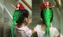 Little Girl Wins Crazy Hair Day With Inspiration From The Little Mermaid