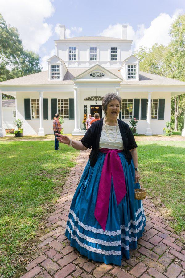 Woman in period costume at Sweet Auburn