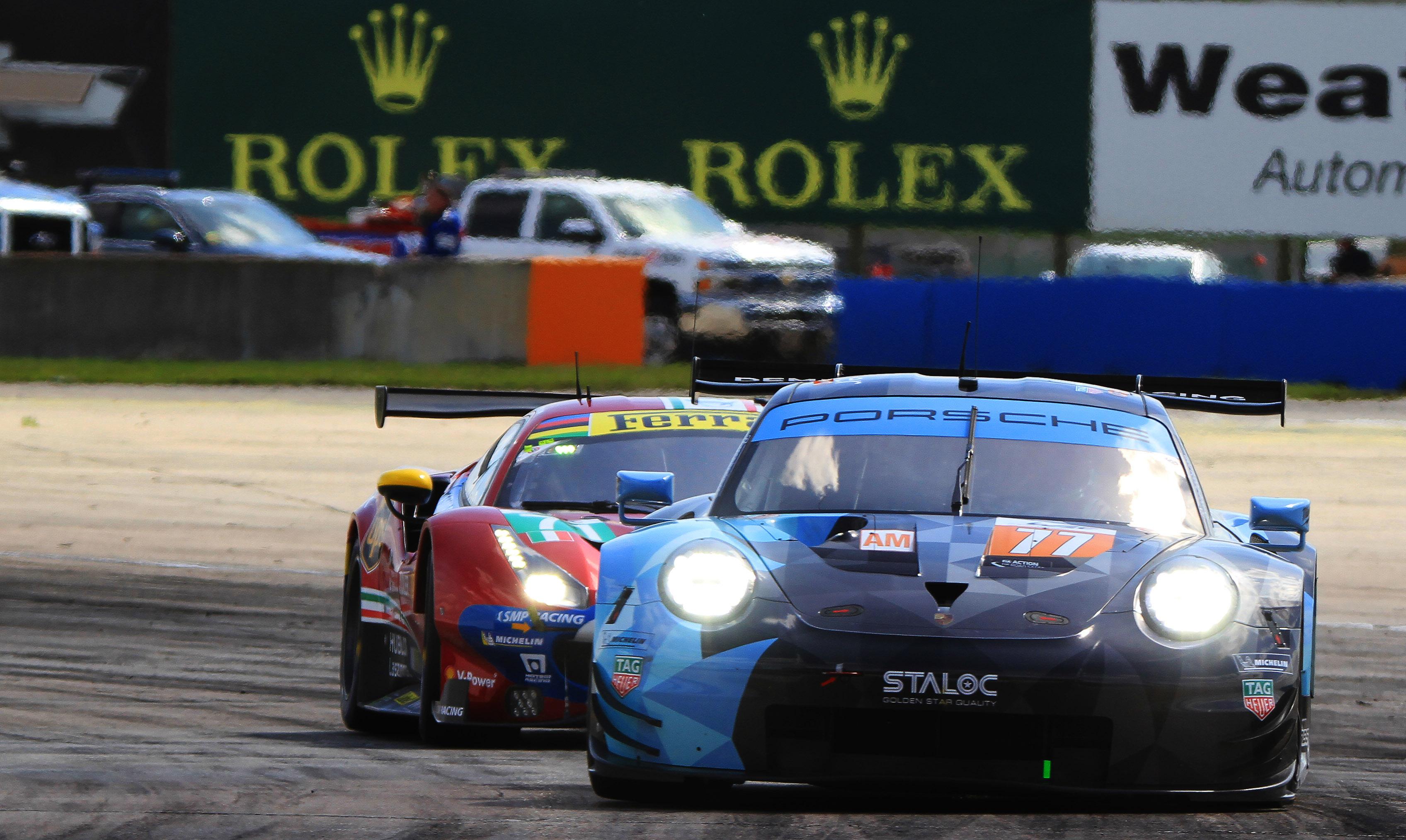 The #77 Dempsey-Proton Racing Porsche 911 RSR won GTE-Am.