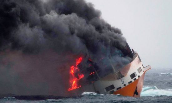 Container Ship Carrying 2,000 Cars Sinks, Oil Spill Heads Toward France