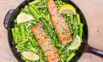 One-Skillet Salmon With Spring Vegetables