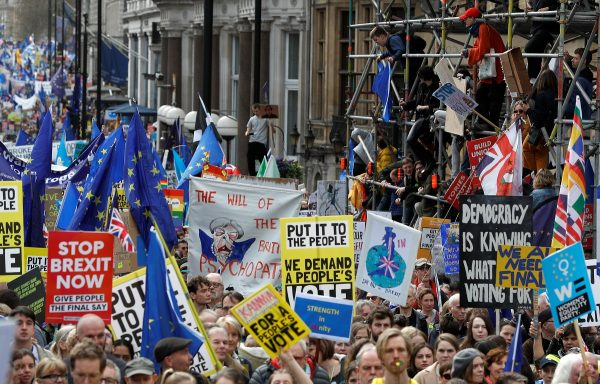 EU supporters, calling on the government to give Britons a vote