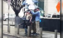 Mystery Man Shields Deputy From Rain for 30 Mins As She Pays Tribute to Fallen Comrade
