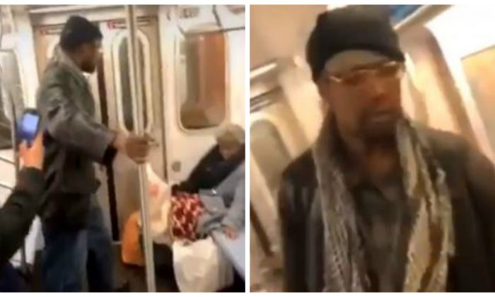 Subway Riders Film Man Kicking Elderly Woman in the Face Instead of Trying to Help