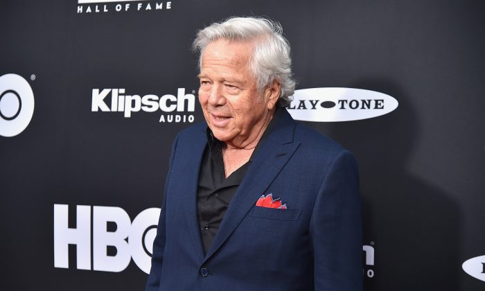 New England Patriots owner Robert Kraft attends the 33rd Annual Rock & Roll Hall of Fame Induction Ceremony at Public Auditorium on April 14, 2018 in Cleveland, Ohio.  (Theo Wargo/Getty Images For The Rock and Roll Hall of Fame)