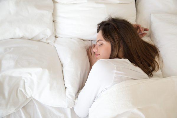 sleeping millennial