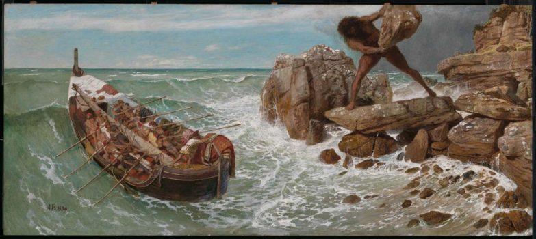 "There are just too many hideous ways to die in Homer's works. ""Odysseus and Polyphemus,"" 1896, byArnold Böcklin. (Public Domain)"