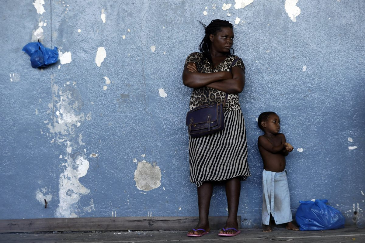 A woman and her child in Mozambique,