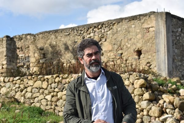 Nikos Gavalas at his winery in Heraklion Crete
