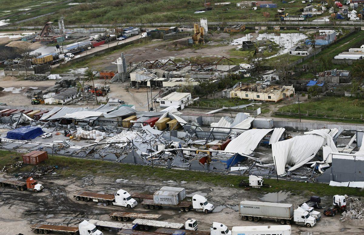 a damaged factory after Cyclone Idai