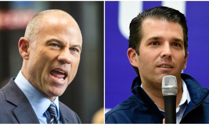 Michael Avenatti (L) and Donald Trump Jr. (Ashlee Rezin/Chicago Sun-Times via AP; David Becker/Getty Images)